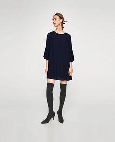 Zara kleid schwarz weibe punkte