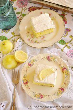 Lemon Cake by yourhomebasedmom, #recipes #cake