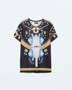 ZARA - MAN - SUBLIMATED T-SHIRT WITH CRYSTALS