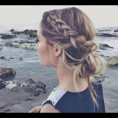 I nice formal yet messy bun like this one. Its for a semi formal