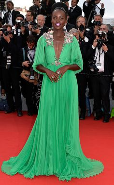 Lupita Nyong'o as stunning as always at the 2015 Cannes Film Festival. Glowing in Gucci.