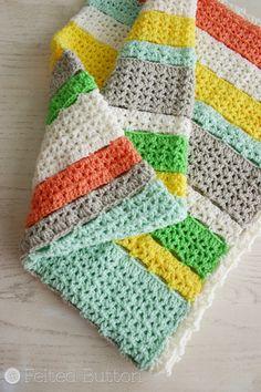 Citrus Stripe Blanket « The Yarn Box