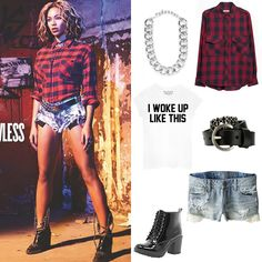 "10 Best 2014 Pop Culture Halloween Costumes - Beyoncé's Fierce Look from Her ""Flawless"" Music Video from #InStyle"