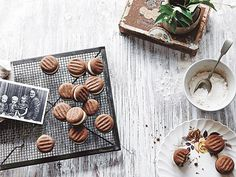 """""""Her mother often made these chocolate cream biscuits using a recipe from a…"""