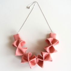 origami necklace make from fabric!