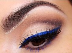 Just bought cobalt blue liquid eyeliner.  Need to figure out how to wear it best.