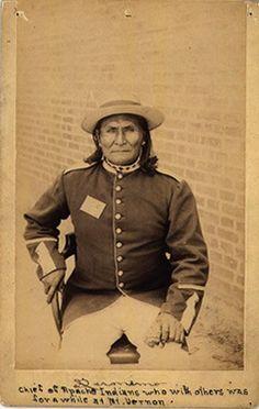 Geronimo at Mount Vernon Barracks, Alabama - Chiricahua Apache - 1887