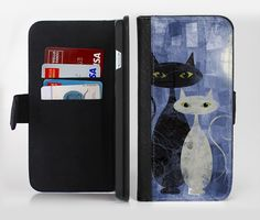 The Blue Grungy Textured Cat lnk-Fuzed Leather Folding Wallet Case For the Apple iPhone and Samsung Galaxy Devices by TheSkinDudes on Etsy https://www.etsy.com/listing/268999236/the-blue-grungy-textured-cat-lnk-fuzed