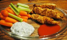 Crunchy Cheese Chicken Tenders and Ranch Dipper - EatSmart Dipper, Chicken Tenders, Nutrition Information, Healthy Living Tips, Tandoori Chicken, Ranch, Yummy Food, Cheese, Ethnic Recipes