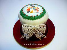 Panettone decorato in pasta di zucchero