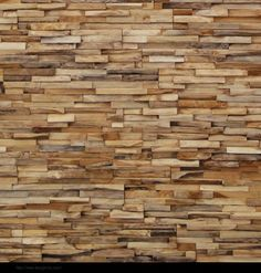 Wood wall covering ..looks like stone!