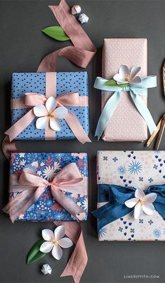 Floral Spring Gift Wrap