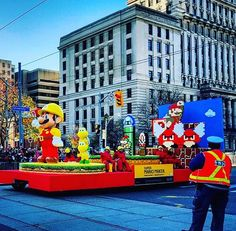 Santa Claus Parade Mario Maker float