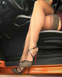 Beautiful Women Wearing High Heels Nylons Stockings Pantyhose and of course. Nylons Heels, Stockings Heels, Sexy Heels, Stockings Lingerie, Stocking Tops, Stocking Tights, Great Legs, Beautiful Legs, Nice Legs