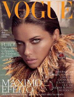 VOGUE BRAZIL FEBUARY,2OI2 COVER | WITH MODEL- ADRIANA LIMA.  PHOTOGRAPHED BY ANDRE PASSOS