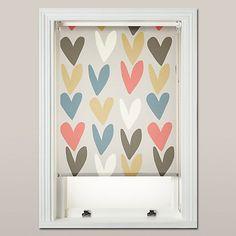 Buy Caroline Gardner Hearts Daylight Roller Blind, Multi Online at johnlewis.com