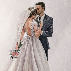 Hope everyone can have a perfect and dreamy wedding and also hope everyone can like the pictures. Wedding Dress Drawings, Wedding Dress Illustrations, Wedding Drawing, Wedding Painting, Wedding Illustration, Wedding Art, Wedding Dress Styles, Fashion Drawing Dresses, Fashion Illustration Dresses