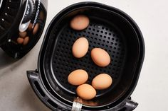The Best Gadget for Making Hard-Boiled Eggs | Kitchn Making Hard Boiled Eggs, Soft Boiled Eggs, Microwave Eggs, Egg Fast, Americas Test Kitchen, Vegetarian Paleo, How To Cook Eggs, Yummy Appetizers, Food 52