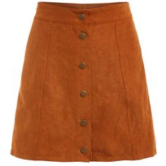 Faux Suede Buttoned Front Skirt - Khaki ($13) ❤ liked on Polyvore featuring skirts, bottoms, khaki, button front skirt, khaki knee length skirt, above the knee skirts, khaki skirt and brown skirt