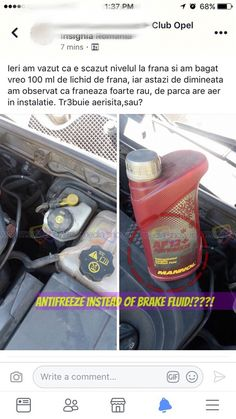 Antifreeze instead of brake fluid!!??