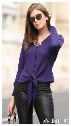 Unravel latest ladies blouses, perfect for the next event or situation. Casual Skirt Outfits, Office Outfits, Blouse Outfit, Blouses For Women, Ladies Blouses, Women's Blouses, Blouse Designs, Fashion Dresses, Womens Fashion