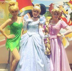 Cinderella, Rapunzel, and Tinker-Bell