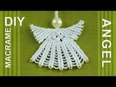 How to Make Macrame ANGEL Decoration - YouTube