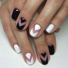 white and black nails - Google Search