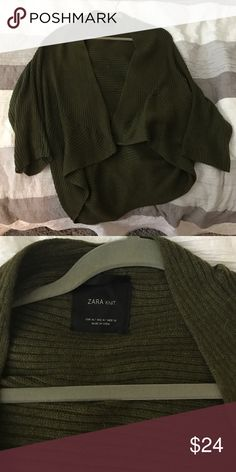 Zara open front cardigan Hunter green Zara cardigan. Medium but fits most. Pretty thick material for cardigan. Sleeves are 3/4. Zara Sweaters Cardigans