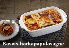 Kasvis-härkäpapulasagne, Resepti:Versofood #kauppahalli24 #resepti #lasagne #kasvis