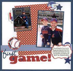 kids hockey scrapbook layouts | baseball scrapbook page - 2 photos