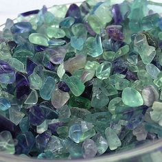 These natural fluorite gravel fit Marimo aquarium,succulent planters,fish bowl,air plant terrarium etc accessories  Weight:2oz/3oz/5oz per bag give you select Size :5mm-7mm or 7mm-9mm  NOTE: 7-9mm is a little bluish as a whole while 5-7mm generally is a little greenish