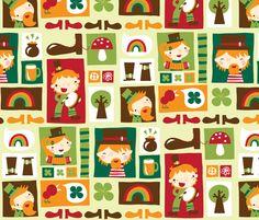 Leprechaun fun! fabric by bora on Spoonflower - custom fabric