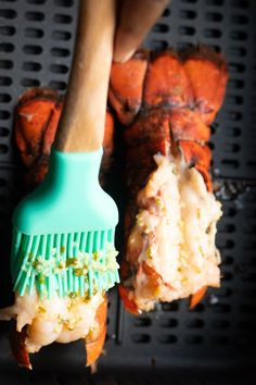 This easy and delicious lobster tail recipe is topped with a yummy garlic butter sauce and air fried to perfection. It's such a quick and easy recipe. Fried Shrimp Recipes, Lobster Recipes, Seafood Recipes, Butter Sauce, Garlic Butter, Cooking Frozen Lobster Tails, Fried Lobster Tail, Air Fryer Cooking Times, Smoked Chicken Wings