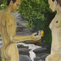 """Away with the fairy's Oil on Canvas 70 X 100 cm or 28"""" X 39"""" in's (Approx)"""