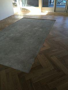 Uitsparing mat in de parketvloer