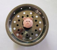 Pudgy Pig Kitchen Sink Strainer Basket. Drain Plug Stopper