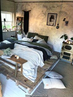 Creativos y Geniales Dormitorio en estilo marroquí. Frazada de ganzúa Pom Pom, reposacabezas de madera Slaapkamer ínclito ...  #dormitorio #estilo #frazada #ganzua #madera #marroqui #reposacabezas Gray Bedroom, Master Bedroom Design, Home Decor Bedroom, Bedroom Furniture, Bedroom Ideas, Grey Furniture, Bedroom Designs, Bedroom Bed, Furniture Design