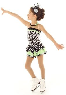 Ice Skating Dress, Elite Expressions Figure Skating Dress 1328 This just SCREAMS party on the ice!