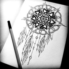 Dreamcatcher drawing bohemian hippie drawing