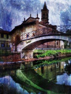 Naviglio crossing, Naviglio Grande, Milano, province of Milan, Lombardy region Italy