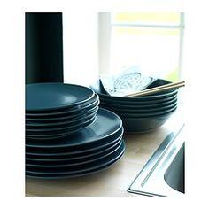 IKEA - DINERA, Service 18 dele, Med de enkle former, dæmpede farver og matte glans gi'r porcelænet din borddækning et rustikt udtryk.