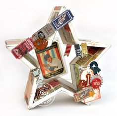 Here is Prima's Allstar Collection.  It's retro, masculine, filled with antique sporty designs and imagery. The Allstar collection is perfect for that special athlete or sports fan in your life!  My mother has kept an old baseball card in her desk since 1959.  While not a valuable card, it has sentimental meaning for her.  When I saw this collection, I knew it would be the perfect backdrop to hold her memory.