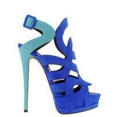 77.20$  Buy here - http://alid6e.worldwells.pw/go.php?t=1748837526 - fashion full genuine leather summer blue women's shoes ultra high heels sandals fashion 77.20$