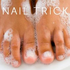 How to get white nails after so much nail polish -- make a paste using 1 tbsp peroxide and 2 1/4 tbsp baking soda. Let this paste sit on your nails for 5 minutes and voila! White nails!