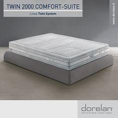 Ergonomico, traspirante e straordinariamente confortevole: ti presentiamo Twin 2000 Comfort-Suite, uno dei migliori materassi Dorelan nel firmamento del benessere ad alta definizione! #materassi #Dorelan #TwinSystem #dormirebene