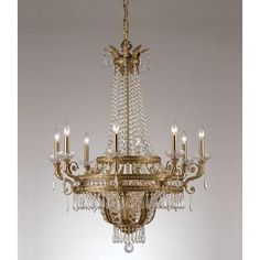 Cool! :)) Pin This & Follow Us! zBrands.com is your Light Fixture Gallery ;) CLICK IMAGE TWICE for Pricing and Info :) SEE A LARGER SELECTION chandeliers at http://www.zbrands.com/Chandeliers-C35.aspx - #homeimprovement #homedecor #lighting  #lights #lightandfixture #chandeliers - Crystorama Chandeliers - Traditional Classic 12 Light Crystal Candle Chandelier