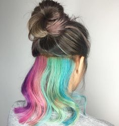 Rainbow hair • calling all unicorns #teamunicorn pastel rainbow