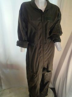 75fc7390b72 Air Force Military Olive Drab Mens Coverall Flight Suit 46R
