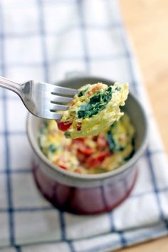 21. Spinach and Cheddar Microwave Quiche #healthy #breakfast #recipes https://greatist.com/health/healthy-fast-breakfast-recipes